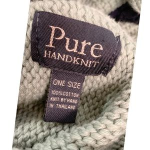 Pure Handknit Sweaters - PURE Handknit 100% Cotton Poncho